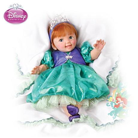【アシュトンドレイク】Musical, Movable Baby Doll In Ariel Outfit/赤ちゃん人形/ベビードール