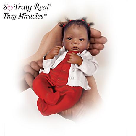 【アシュトンドレイク】The First Tiny Miracles African American Doll Coll/赤ちゃん人形/ベビードール