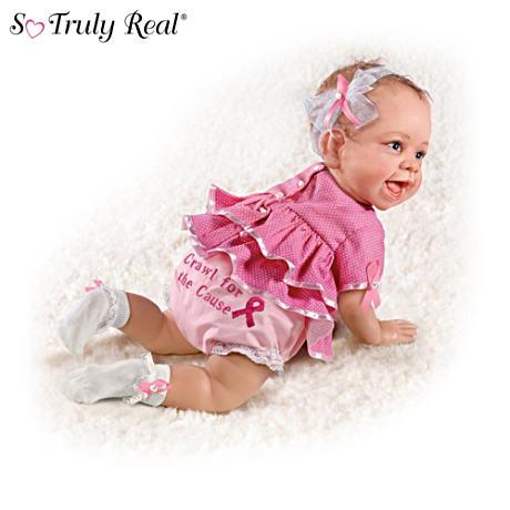 【アシュトンドレイク】Breast Cancer Support Lifelike Baby Dolls/赤ちゃん人形/ベビードール