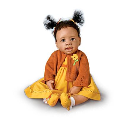 【アシュトンドレイク】Thankful Blessings African-American Musical Baby D/赤ちゃん人形/ベビードール