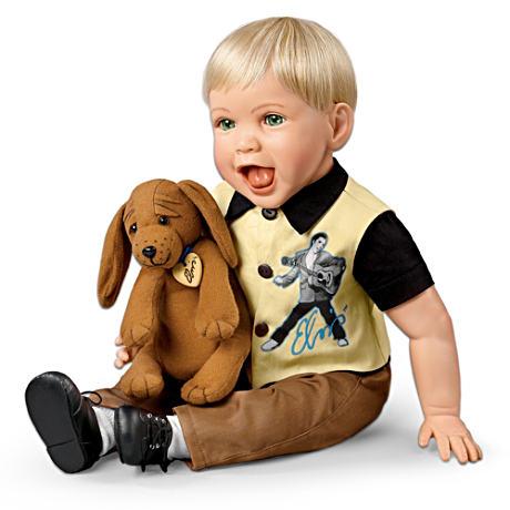 【アシュトンドレイク】Lifelike, Lovable Elvis Baby Doll With Musical Hou/赤ちゃん人形/ベビードール
