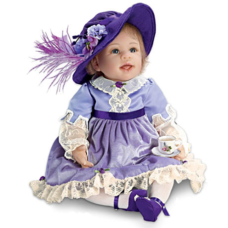 【アシュトンドレイク】Baby Doll In Victorian Outfit With Tea Set/赤ちゃん人形/ベビードール