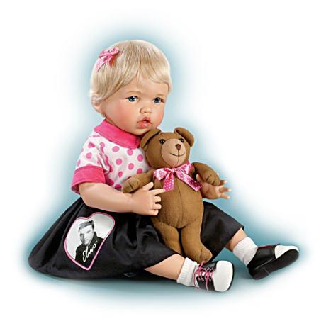 【アシュトンドレイク】Elvis Baby Doll With Teddy Bear That Plays ★Don't/赤ちゃん人形/ベビードール