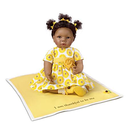 【アシュトンドレイク】Peyton: African-American Baby Doll With Musical Bl/赤ちゃん人形/ベビードール