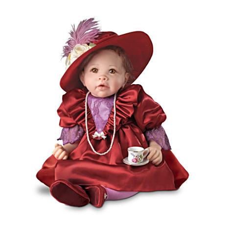 【アシュトンドレイク】Lifelike Baby Doll In Victorian Outfit With FREE T/赤ちゃん人形/ベビードール