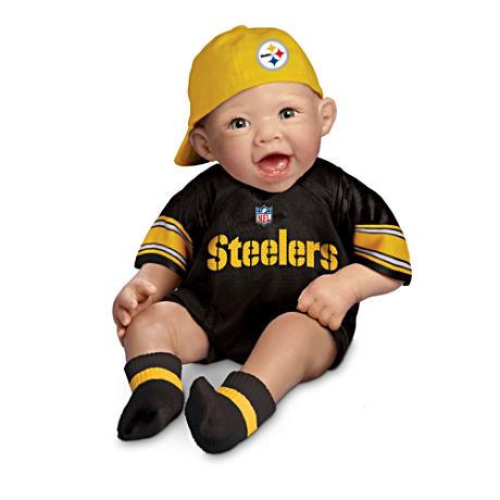 【アシュトンドレイク】NFL-Licensed Steelers Baby Doll In Team Jersey And/赤ちゃん人形/ベビードール