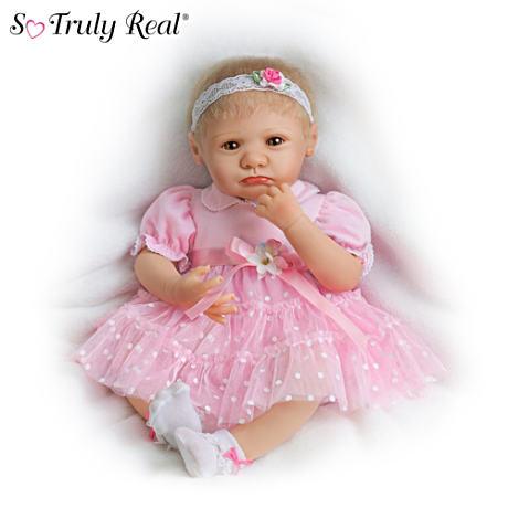 【アシュトンドレイク】Lifelike Teary-Eyed Poseable Baby Girl Doll By Mar/赤ちゃん人形/ベビードール