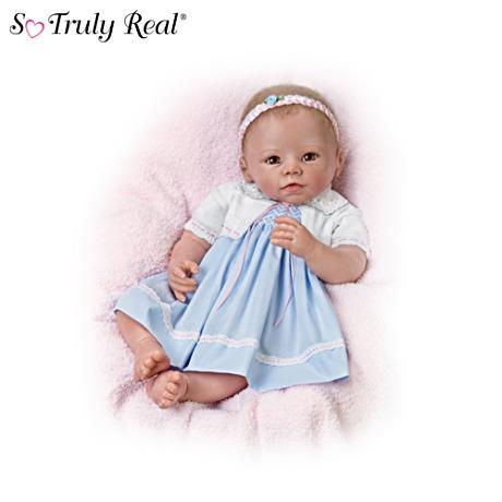 【アシュトンドレイク】Lifelike Weighted Poseable Baby Girl Doll By Linda/赤ちゃん人形/ベビードール
