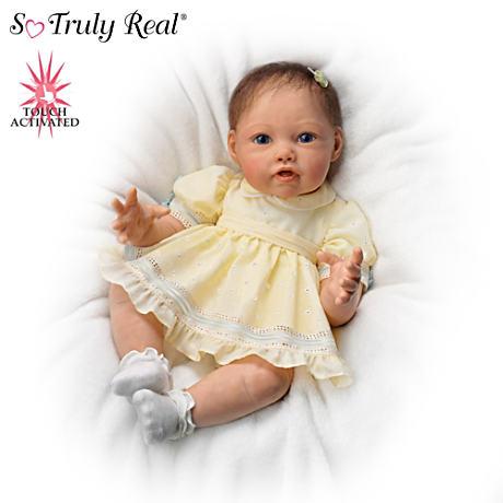 【アシュトンドレイク】Touch-Activated Baby Doll By Artist Jannie DeLange/赤ちゃん人形/ベビードール