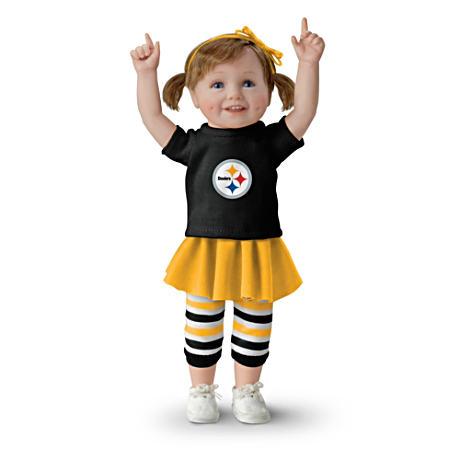 【アシュトンドレイク】NFL-Licensed Pittsburgh Steelers Fan Girl Doll/赤ちゃん人形/ベビードール