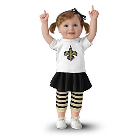 【アシュトンドレイク】NFL-Licensed New Orleans Saints Fan Girl Doll/赤ちゃん人形/ベビードール