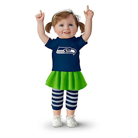 【アシュトンドレイク】NFL-Licensed Seattle Seahawks Fan Girl Doll/赤ちゃん人形/ベビードール