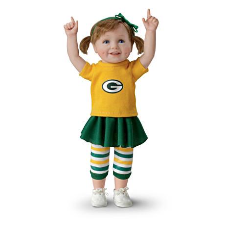 【アシュトンドレイク】NFL-Licensed Green Bay Packers Fan Girl Doll/赤ちゃん人形/ベビードール