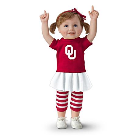 【アシュトンドレイク】Officially Licensed Oklahoma Sooners Fan Girl Doll/赤ちゃん人形/ベビードール