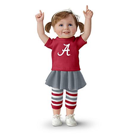 【アシュトンドレイク】Officially Licensed Alabama Crimson Tide Fan Girl /赤ちゃん人形/ベビードール