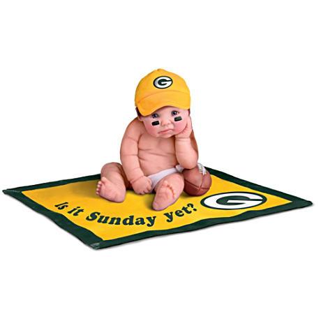 【アシュトンドレイク】NFL Licensed Green Bay Packers Baby Doll Collectio/赤ちゃん人形/ベビードール