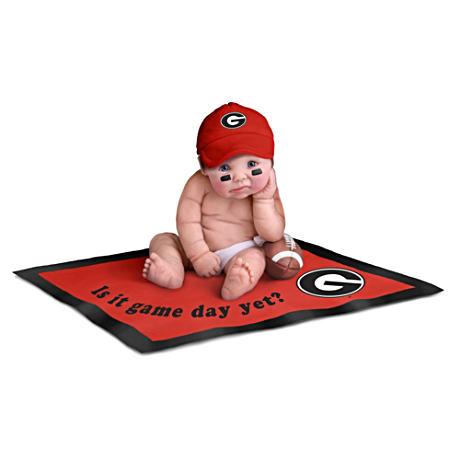 【アシュトンドレイク】Georgia Bulldogs Fan Baby Doll Collection/赤ちゃん人形/ベビードール