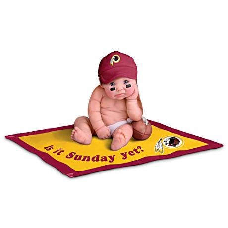 【アシュトンドレイク】NFL Licensed Washington Redskins #1 Fan Baby Doll /赤ちゃん人形/ベビードール