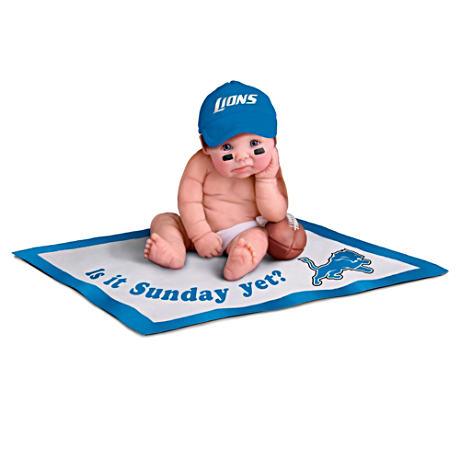 【アシュトンドレイク】NFL Licensed Detroit Lions #1 Fan Baby Doll Collec/赤ちゃん人形/ベビードール