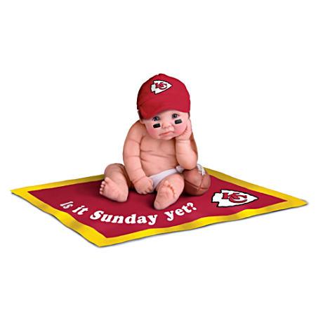 【アシュトンドレイク】NFL Licensed Kansas City Chiefs #1 Fan Baby Doll C/赤ちゃん人形/ベビードール