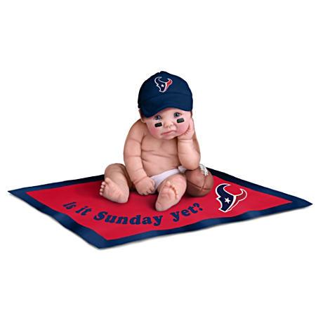 【アシュトンドレイク】NFL Licensed Houston Texans Baby Doll Collection/赤ちゃん人形/ベビードール