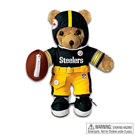 【アシュトンドレイク】Interactive Pittsburgh Steelers Talking Teddy Bear/赤ちゃん人形/ベビードール
