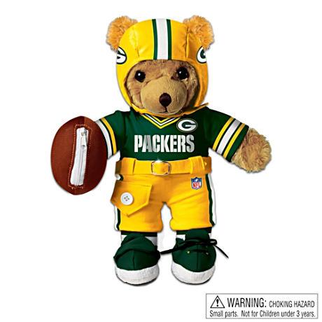 【アシュトンドレイク】Interactive Green Bay Packers Coaching Teddy Bear/赤ちゃん人形/ベビードール