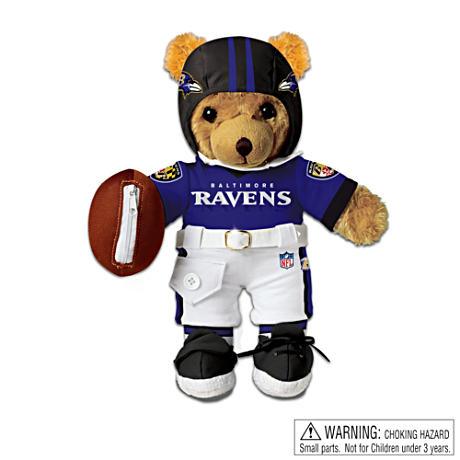 【アシュトンドレイク】Interactive Baltimore Ravens Coaching Teddy Bear/赤ちゃん人形/ベビードール