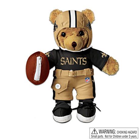 【アシュトンドレイク】Interactive New Orleans Saints Coaching Teddy Bear/赤ちゃん人形/ベビードール