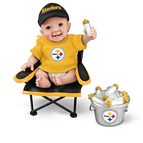 【アシュトンドレイク】Pittsburgh Steelers ★Tailgatin' Tots★ Fan Doll C/赤ちゃん人形/ベビードール