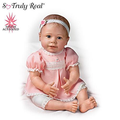 【アシュトンドレイク】Lifelike Baby Girl Doll Moves And Coos When Touche/赤ちゃん人形/ベビードール