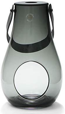 ホルムガード(Holmegaard) ランタン/デザイン ウィズ ライト スモーク M 25cm DESIGN WITH LIGHT 4343535