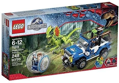 レゴ ジュラシックワールド ディロフォサウルス・アンブッシュ 75916
