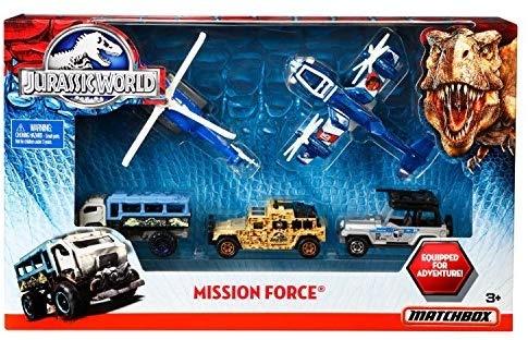 ジュラシック・ワールド ミッション・フォース Matchbox Jurassic World Mission Force Vehicle 5-Pack