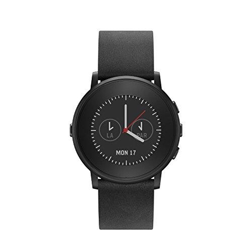 Pebble Time Round 極薄かつ超軽量の丸型スマートウォッチ「ペッブルタイム・ラウンド」Black