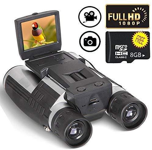 2 LCD Display Digital Binoculars Camera Telescope 12x32 5MP Video Photo Recorder with Free 8GB Mic