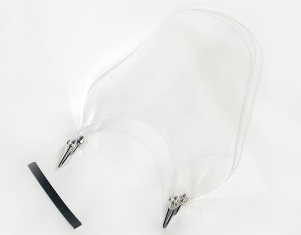 ウインドシールド ドレスアップ カスタムパーツ RD250 汎用ウインドスクリーン 風防 クリア スモーク