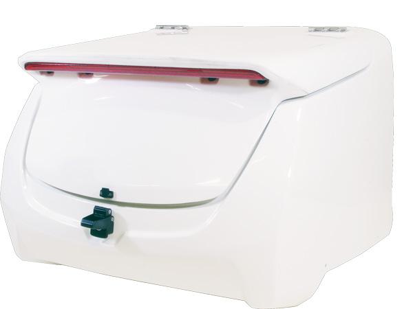 ジャイロキャノピー用 リアボックス jcb-01 LEDハイマウント付き 白ゲル使用 未塗装