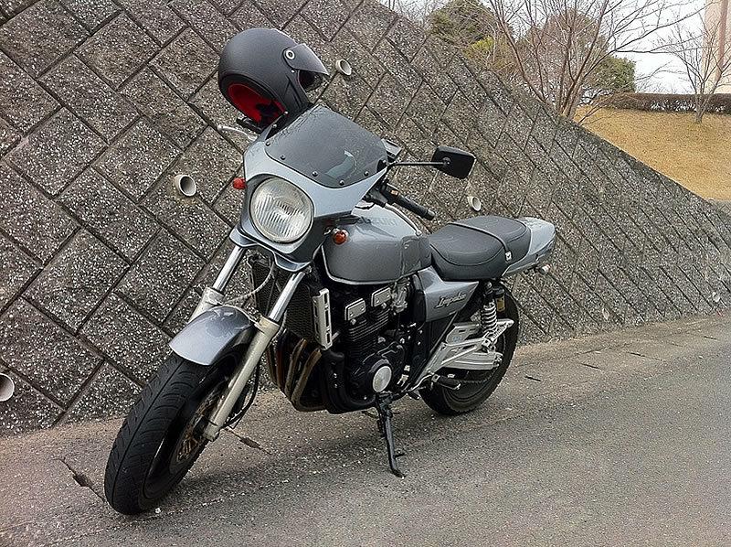 GSX400インパルス 汎用ビキニカウル タイプAEROスクリーン [純正色塗装] ABS製 ボルト付