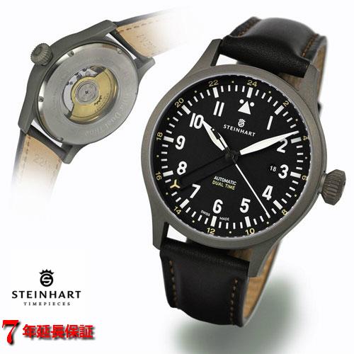 スタインハート/Steinhart/腕時計/NAV B-UHR 44MM AUTOMATIC DUAL TIME TITANIUM/メンズ/スイスメイドオートマチック