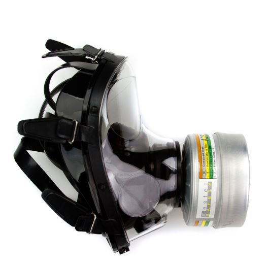 NBC緊急避難用マスク SGE150 防毒ガスマスク サリン対応 フルーフェイスタイプ フェルター付き 核放射性粉じん/ウイルス/細菌/催涙ガス 緊急避難 用  M/L成人男女