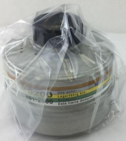 NBC緊急避難用マスク用  防毒ガスマスクフェルター 吸収缶サリン対応 核 放射性粉じん/ウイルス/細菌/緊急避難 用 40mmネジ式コネクタ対応 アメリカ製