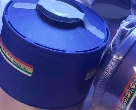 NBC緊急避難用マスク用 吸収缶 防毒ガスマスクフェルターサリン対応  放射性粉じん/ウイルス/細菌/緊急避難 用 40mmネジ式コネクタ対応 イタリア製