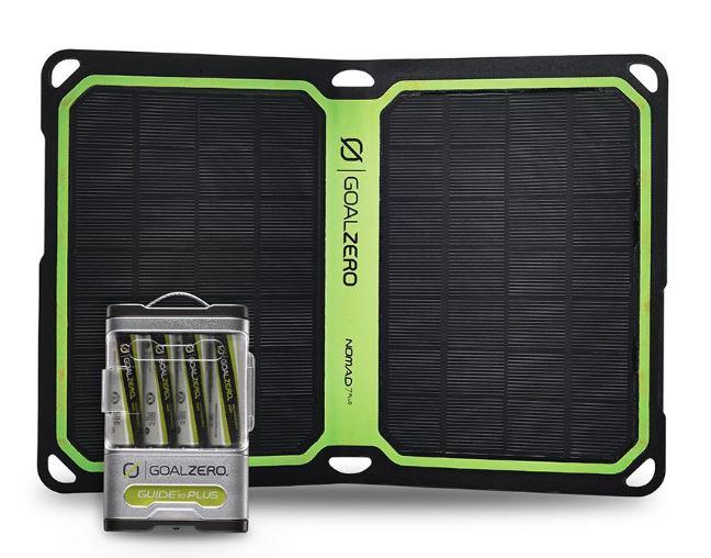 「単三 単3充電電池付」Guide 10 Plus+Nomad 7 Plus  ソーラー充電器