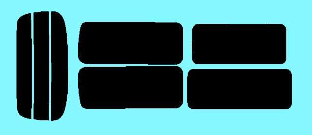 キャラバン 5ドア ロング E25 カット済みカーフィルム リアセット スモークフィルム 車 窓 日よけ 日差しよけ UVカット (99%) カット済み カーフィルム ( カットフィルム リヤセット リヤーセット リアーセット )