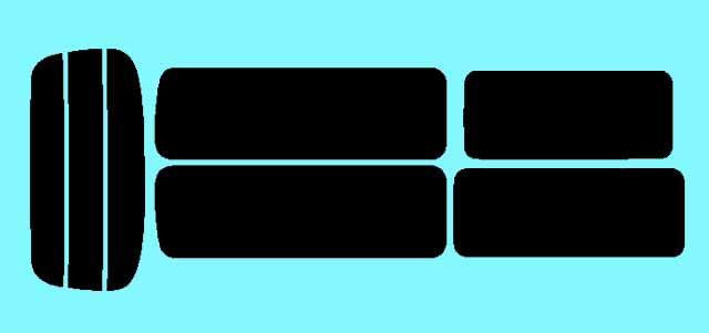 キャラバン 4ドア スーパーロング E25 カット済みカーフィルム リアセット スモークフィルム 車 窓 日よけ 日差しよけ UVカット (99%) カット済み カーフィルム ( カットフィルム リヤセット リヤーセット リアーセット )
