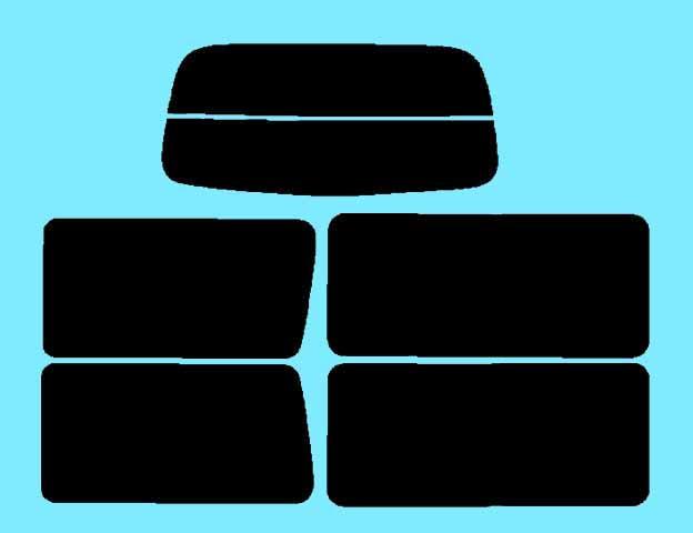 バネット サイドウィンド固定式用 カット済みカーフィルム SK# リアセット スモークフィルム 車 窓 日よけ UVカット (99%) カット済み カーフィルム ( カットフィルム リヤセット リヤーセット リアーセット )