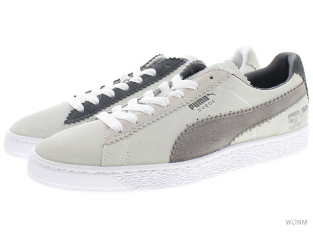 low priced 6cdce be6ee PUMA SUEDE CLASSIC x MICHAEL LAU 366,313-01 puma white-steel gray Puma  suede classical music Michael ラウ-free article