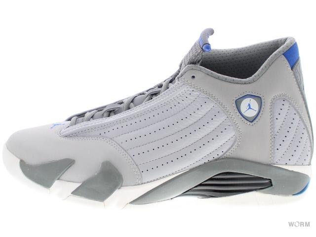 buy popular 6d6cf ccb04 AIR JORDAN 14 RETRO SPORT BLUE 487471-004 wolf grey/sprt blue-cl gry-wht  Air Jordan 14 unread items