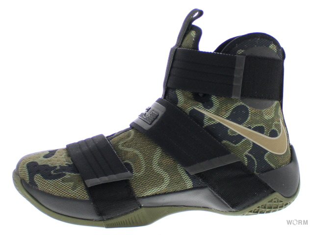sports shoes 26af7 81095 NIKE LEBRON SOLDIER 10 SFG 852,400-022 black bamboo-medium olive Nike  Revlon soldier-free article